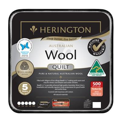 Herington Premium Washable Australian Made Wool Quilt 500gsm Thumbnail