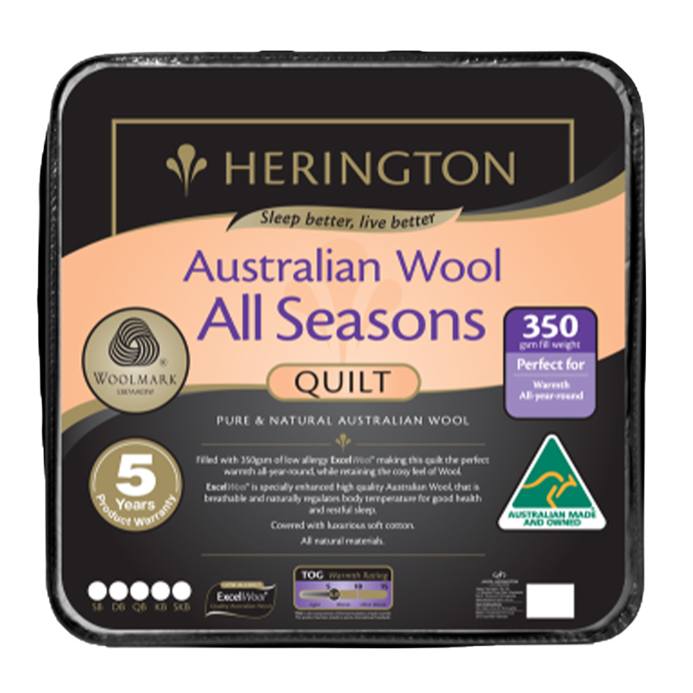 Herington All Seasons Australian Wool Quilt