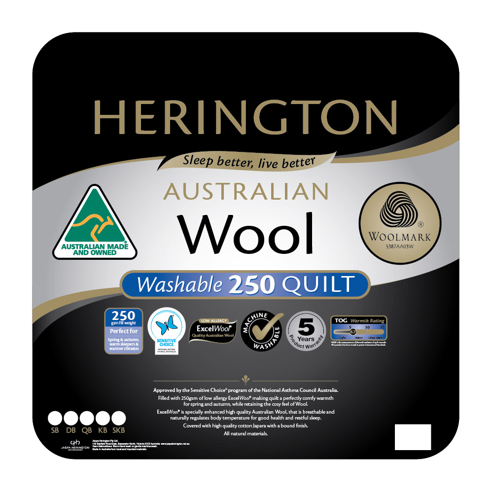 Herington Washable Australian Made Wool Quilt