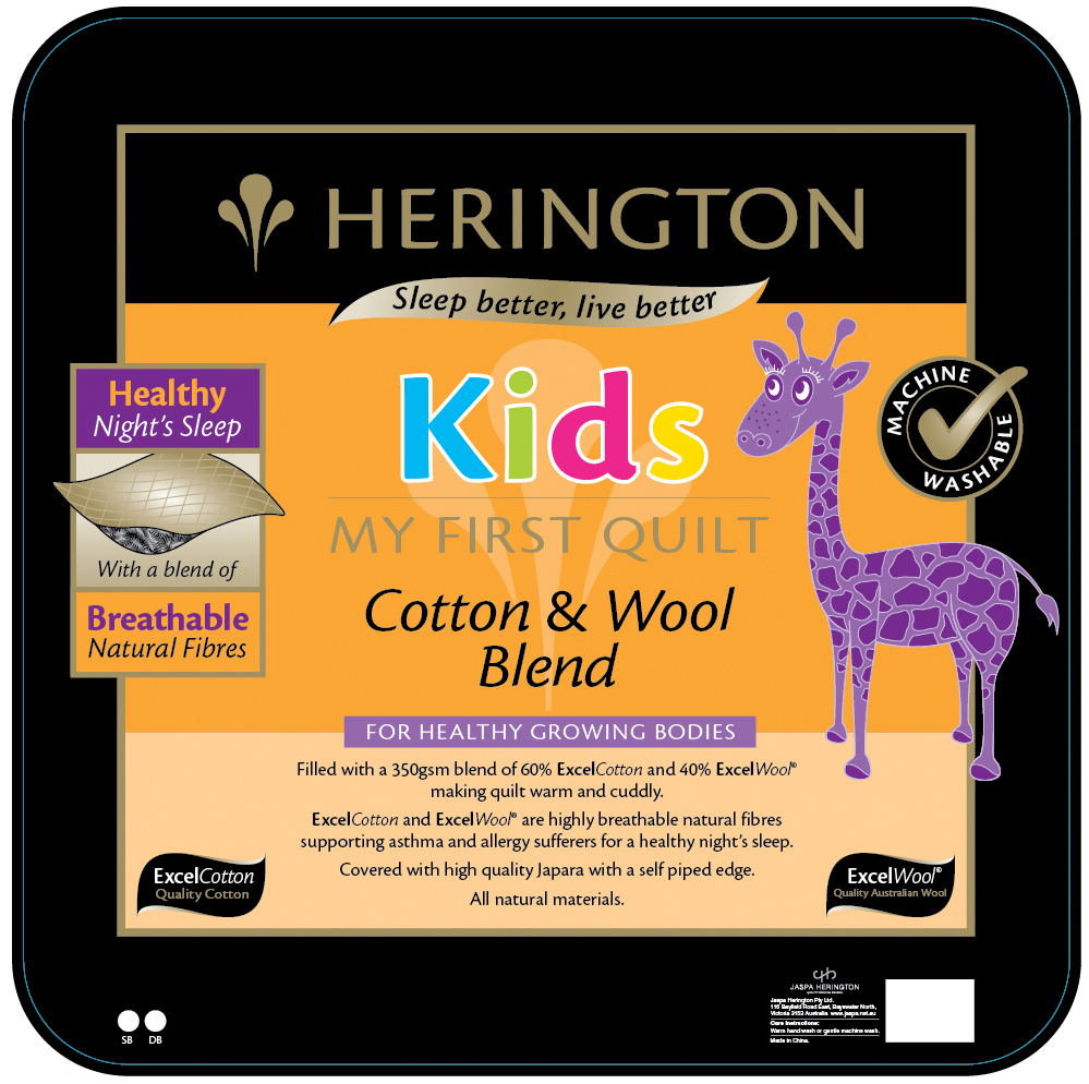 Herington My First Quilt Cotton and Wool Kids Quilt