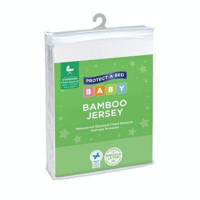 Protect A Bed Bamboo Jersey Fitted Bassinet Mattress Protector