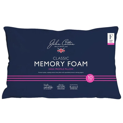 John Cotton Classic Memory Foam Pillow High Profile