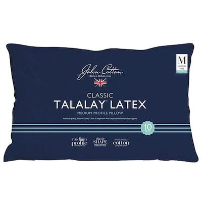 John Cotton Classic Talalay Latex Pillow Medium Profile