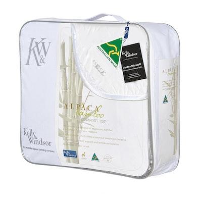 Kelly and Windsor Alpaca Bamboo Comfort Top Mattress Topper