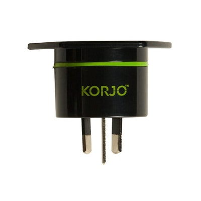 KORJO UK and USA to AU Power Travel Adaptor front