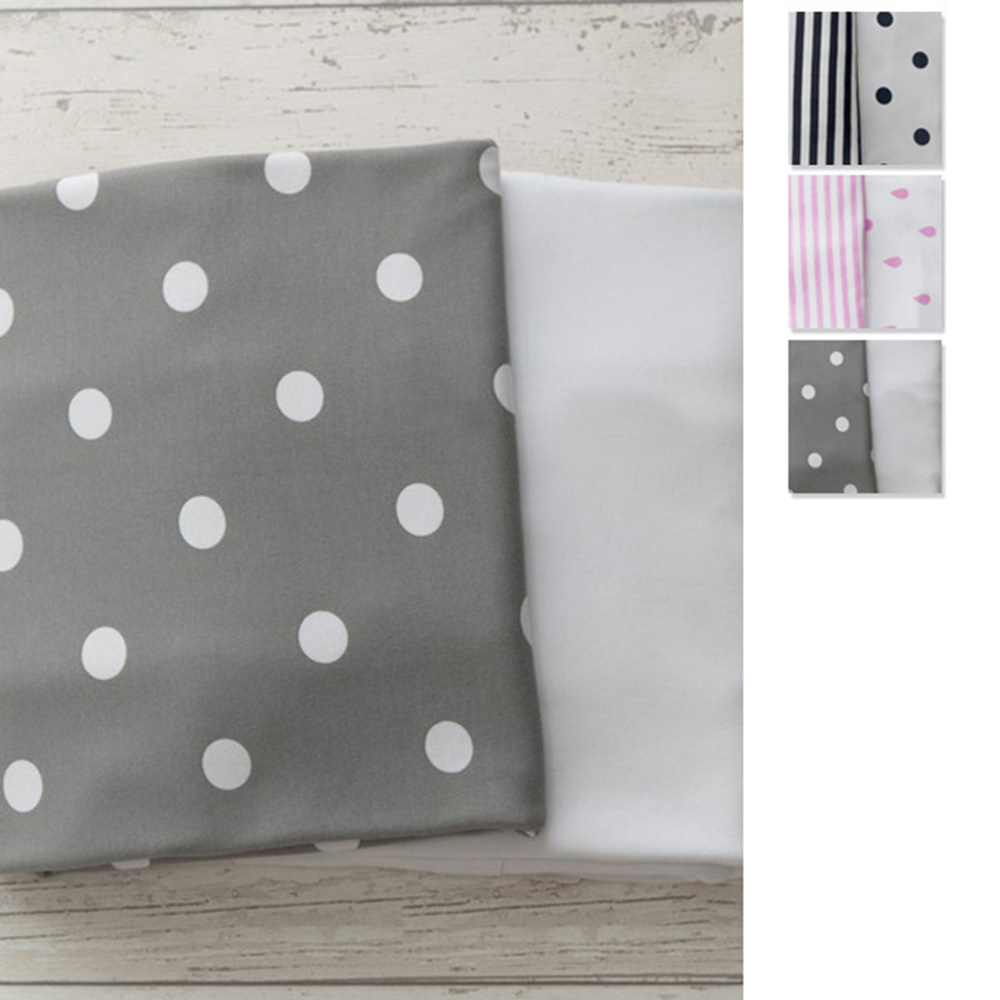 Lil Fraser Collection 2 Piece Baby Fitted Cot Sheet Set