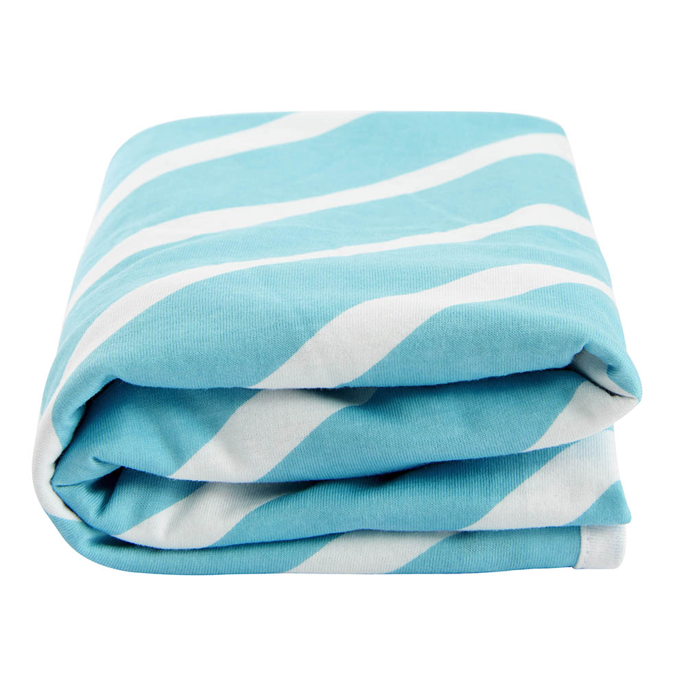 Lil Fraser Collection Billie Baby Wrap Turquoise and White