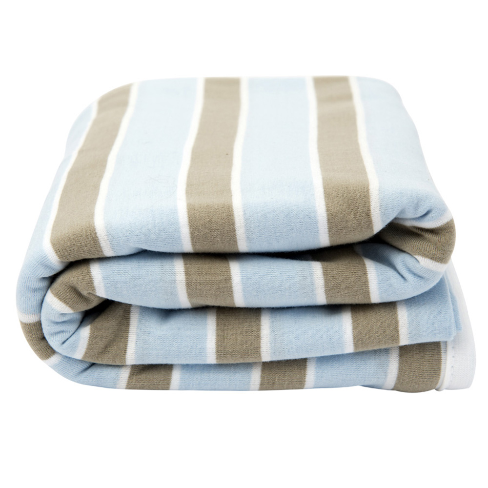 Lil Fraser Collection Oscar Baby Wrap Pale Blue and Beige