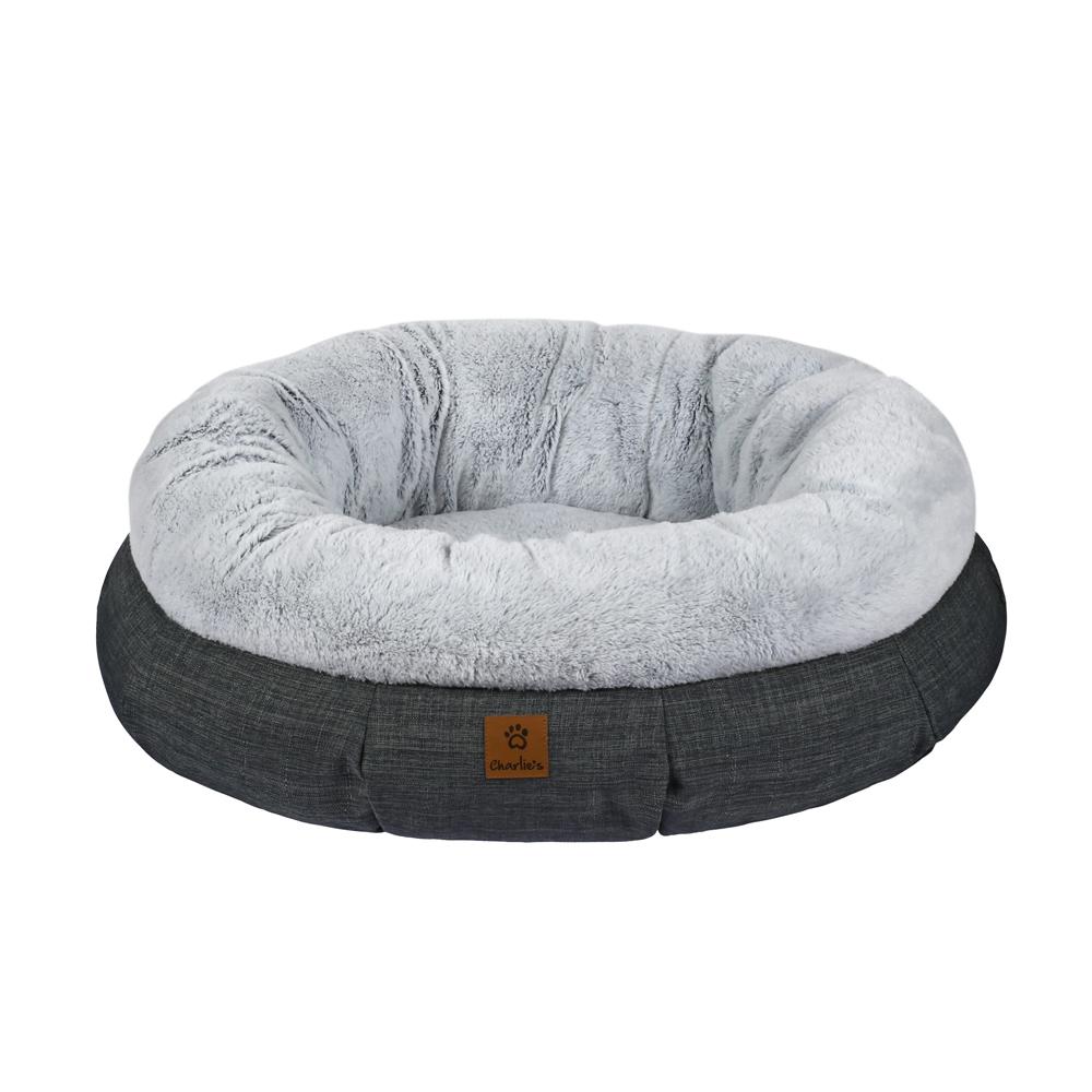 Charlie's Pet Luxury Plush Round Bed