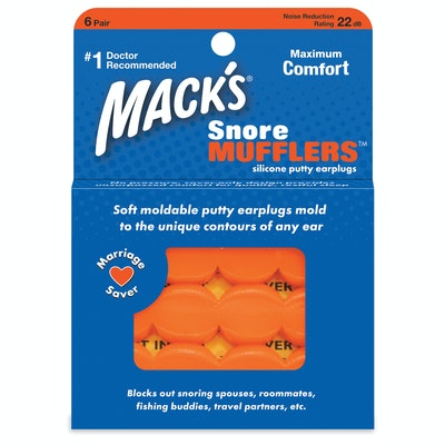 Mack's Moldable Snore Mufflers Silicone Ear Plugs