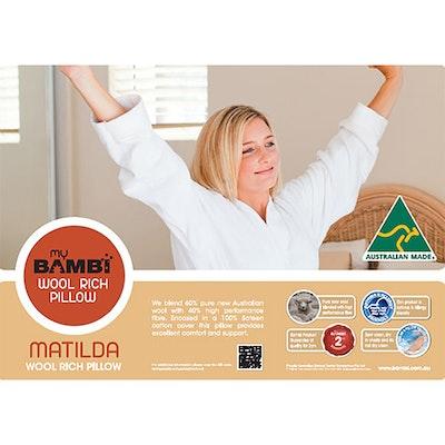 Bambi Luxurious Matilda Wool Rich Pillow Packaging