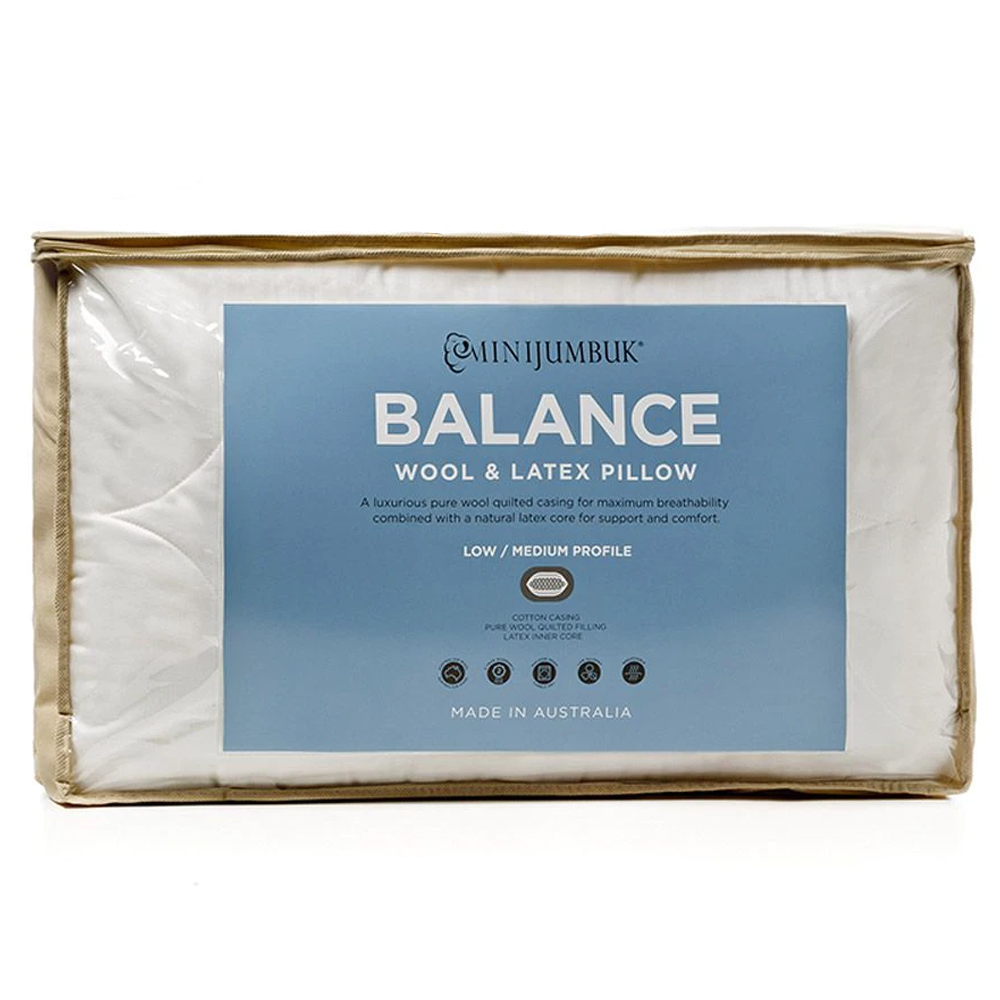 MiniJumbuk Balance Wool and Latex Pillow