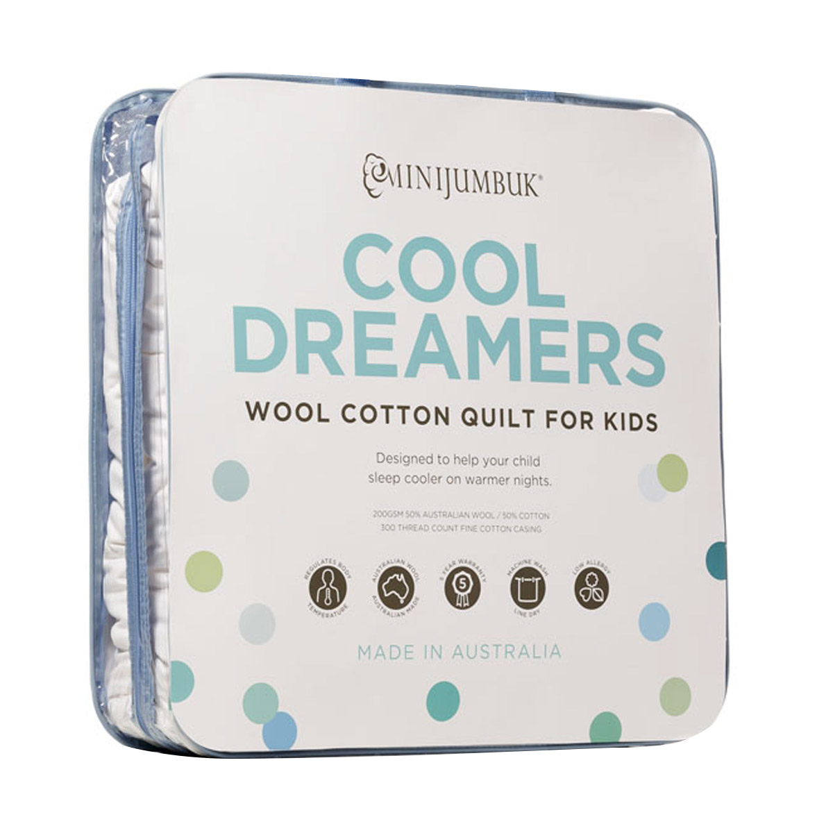 MiniJumbuk Cool Dreamers Kids Wool Cotton Kids Quilt