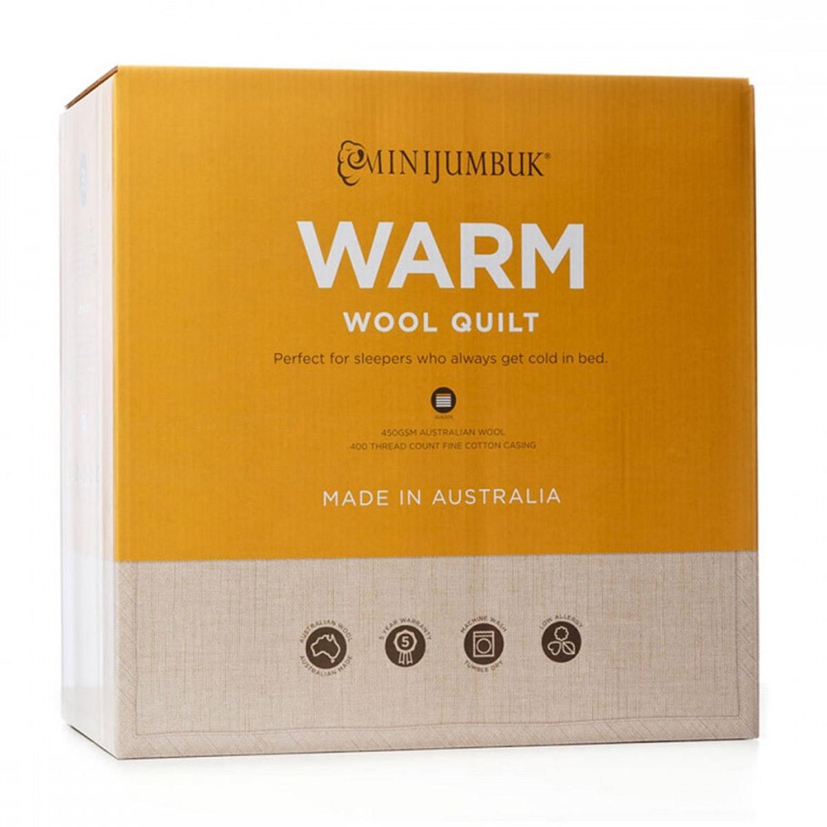 MiniJumbuk Warm Australian Wool Quilt
