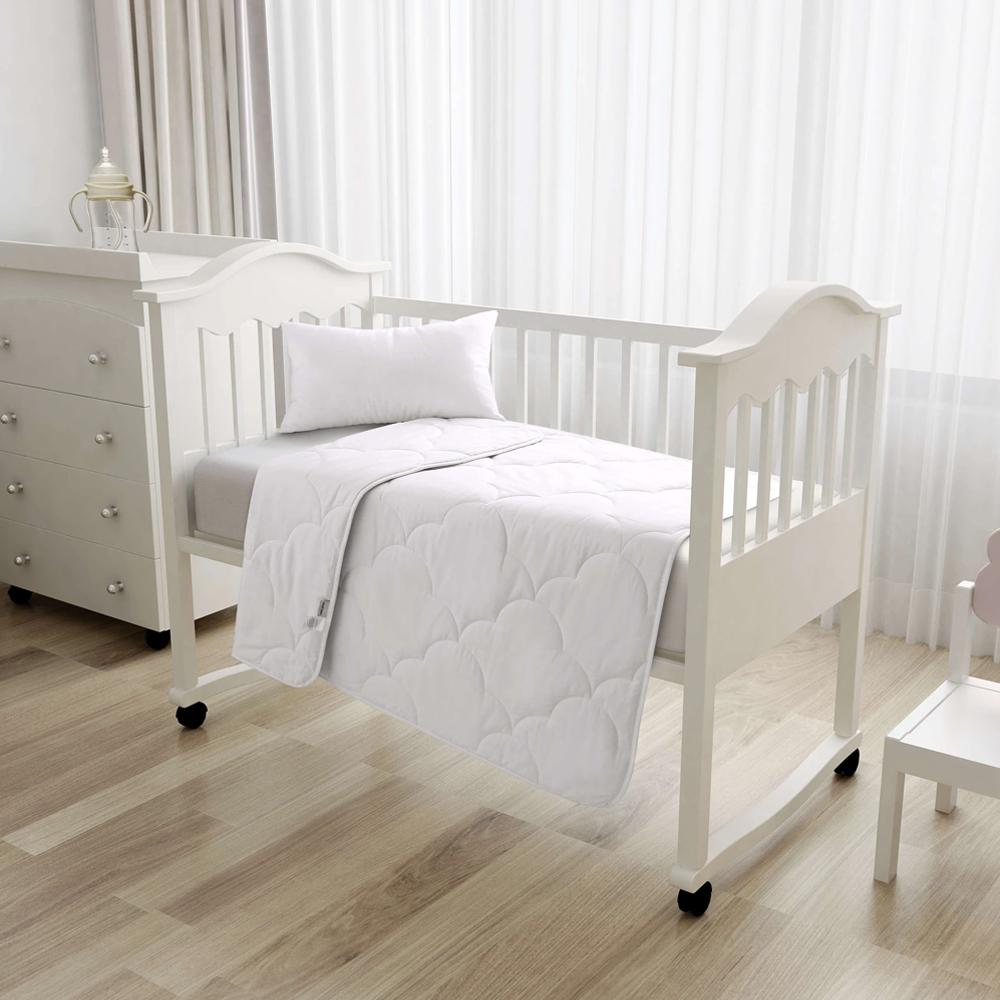 Natural Home Lightweight Summer Cotton Cot Quilt 250gsm