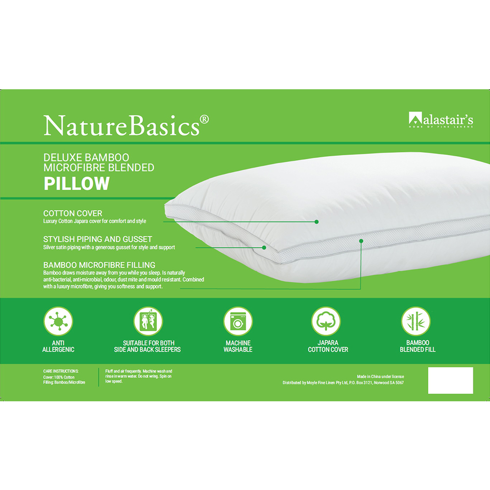 Alastairs NatureBasics Deluxe Bamboo Microfibre Blended Pillow