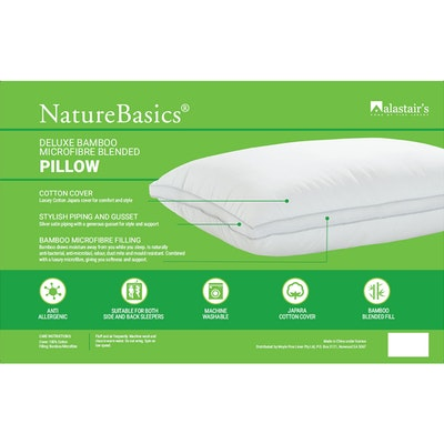 Alastairs NatureBasics Deluxe Bamboo Microfibre Blended Pillow