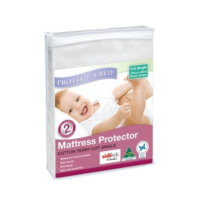 Protect A Bed Cotton Terry Cot Mattress Protector with Elastic Straps