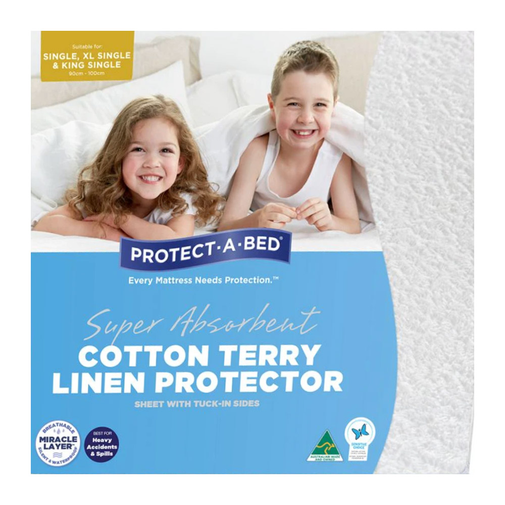 Protect A Bed Cotton Terry Linen Sheet Protector