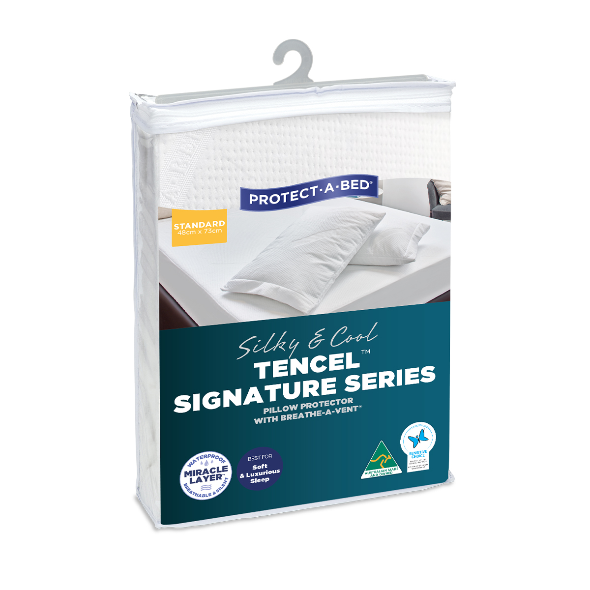 Protect-A-Bed Tencel Signature Series Waterproof Pillow Protector