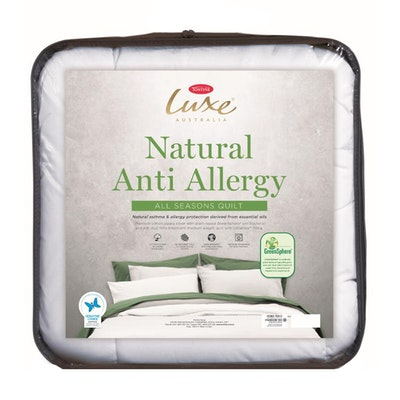 Tontine Luxe Natural Anti Allergy All Seasons Quilt Packaging