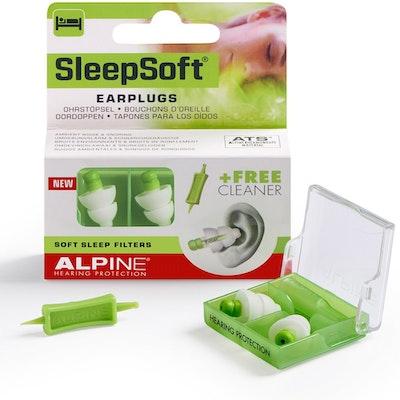 Alpine SleepSoft Earplugs with Free Cleaner Packaging