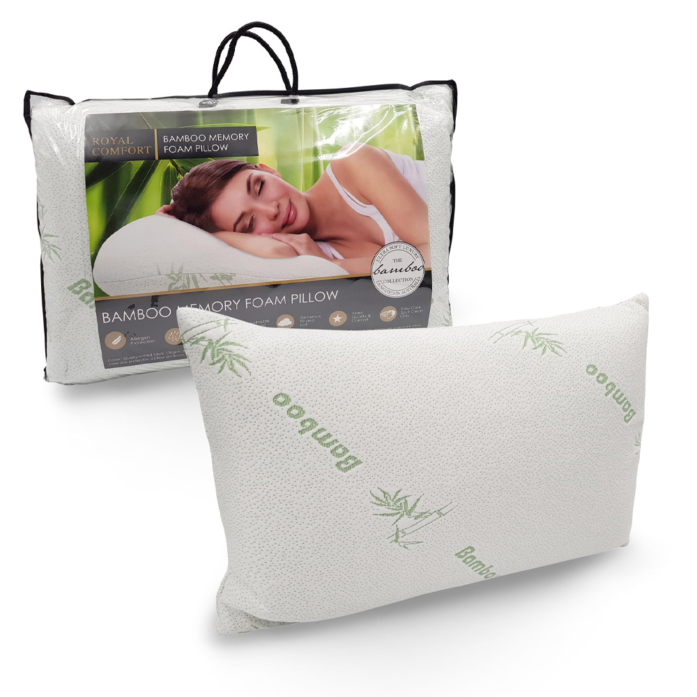 Anti Microbial Breathable Bamboo Covered Memory Foam Pillow