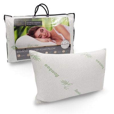 Anti Microbial Breathable Bamboo Covered Memory Foam Pillow Thumbnail