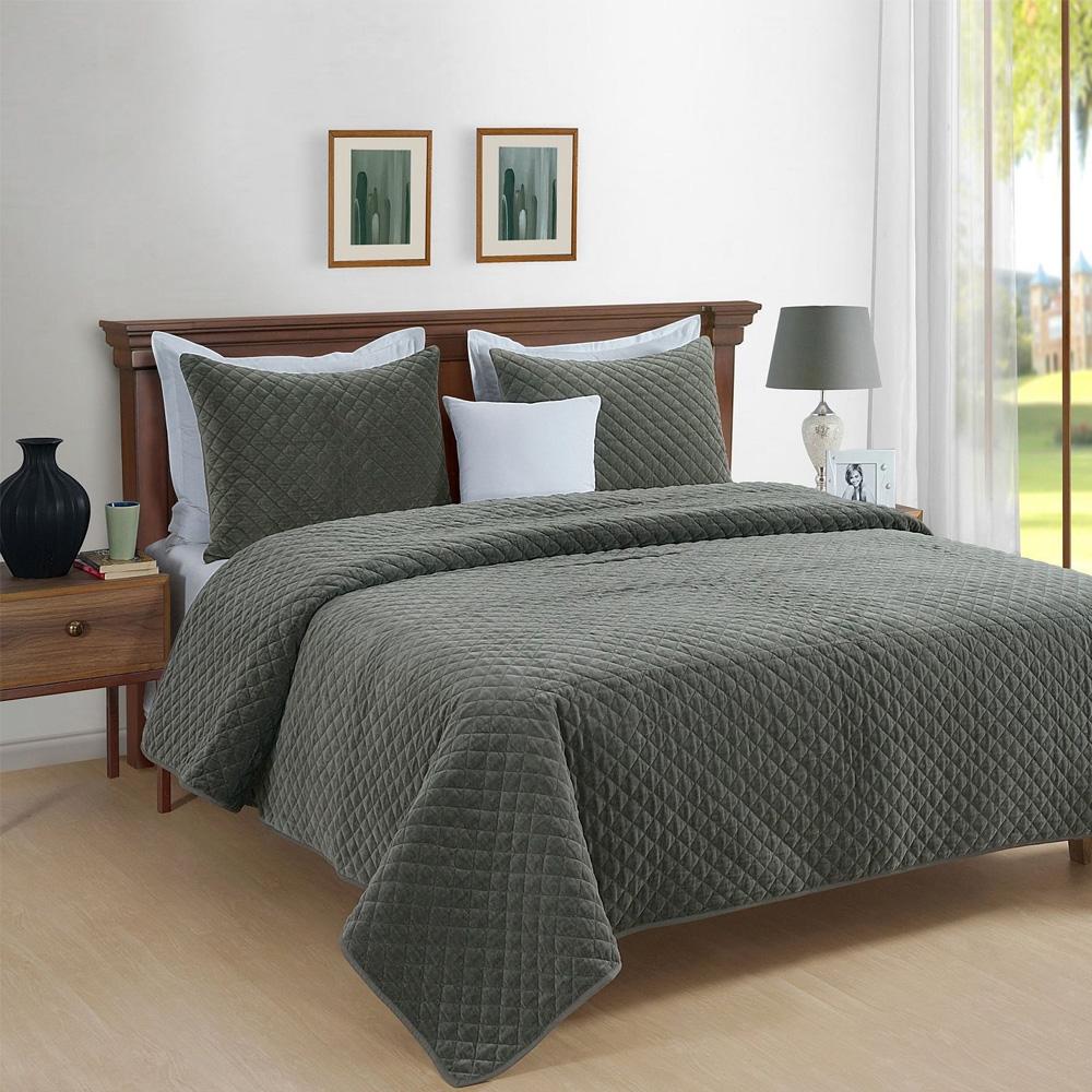 Park Avenue Amalia Cotton Velvet Quilted Comforter Set