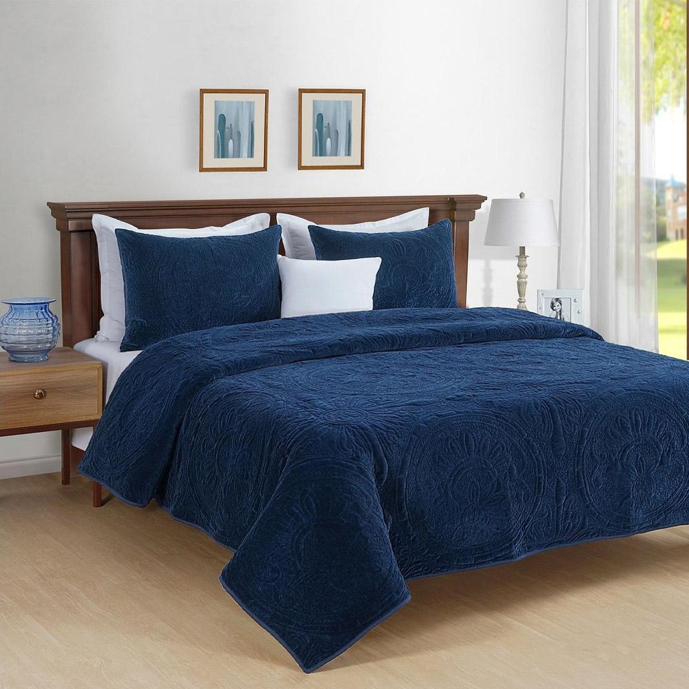 Park Avenue Charlotte Cotton Velvet Quilted Comforter Set