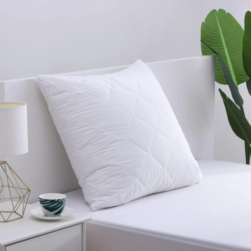 Cotton Cover Microfibre Filling Quilted European Pillow Protector