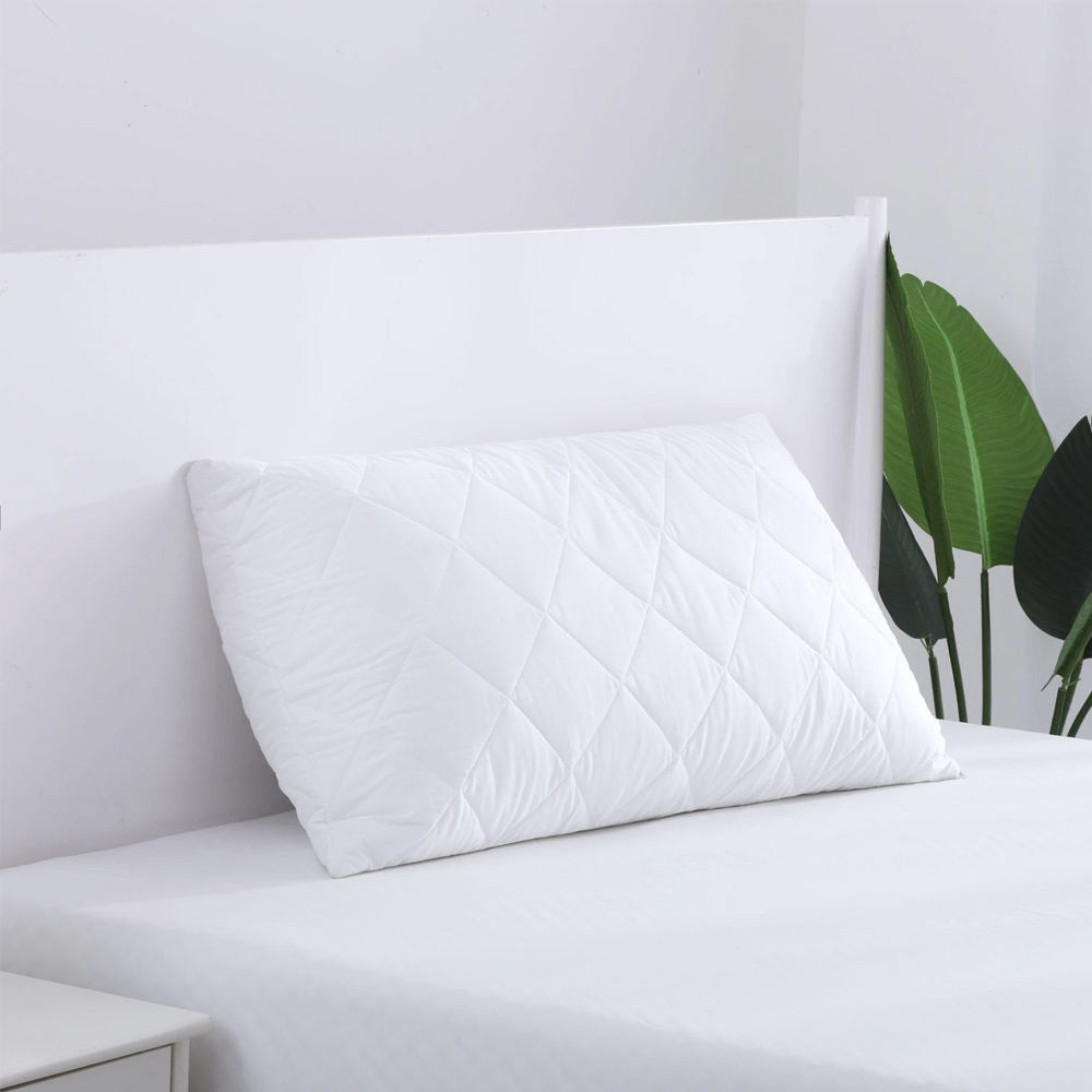 Cotton Cover Microfibre Filling Quilted King Pillow Protector