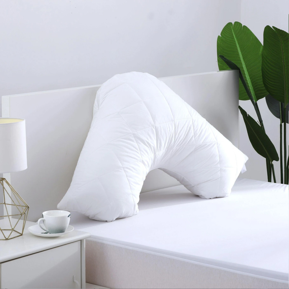 Cotton Cover Microfibre Filling Quilted V Shape Pillow Protector