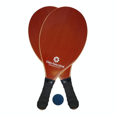 Vida Frescobol Rosewood Beach Paddleball Racquet Set