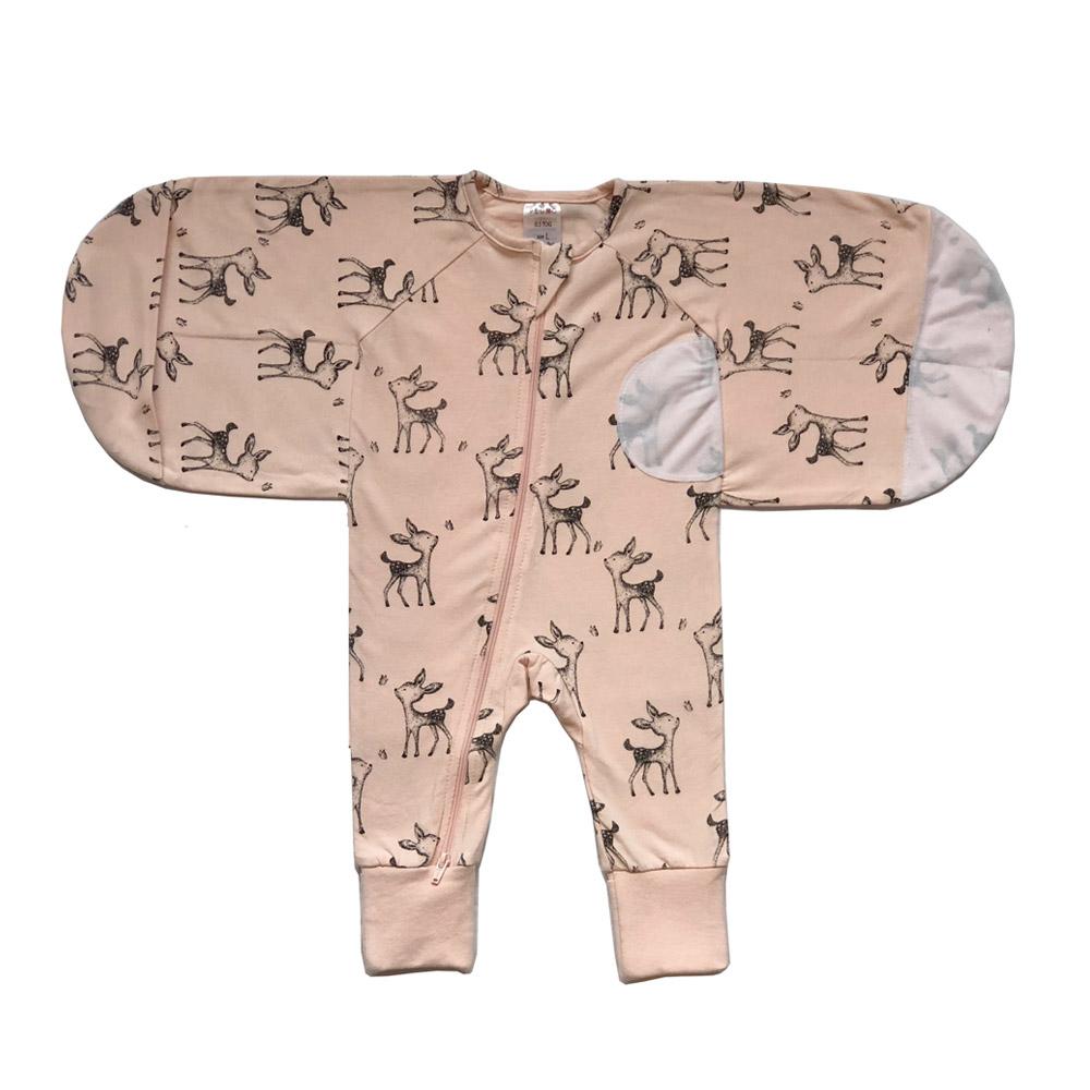 Plum Pink Deer Swaddle Suit 0.5 Tog