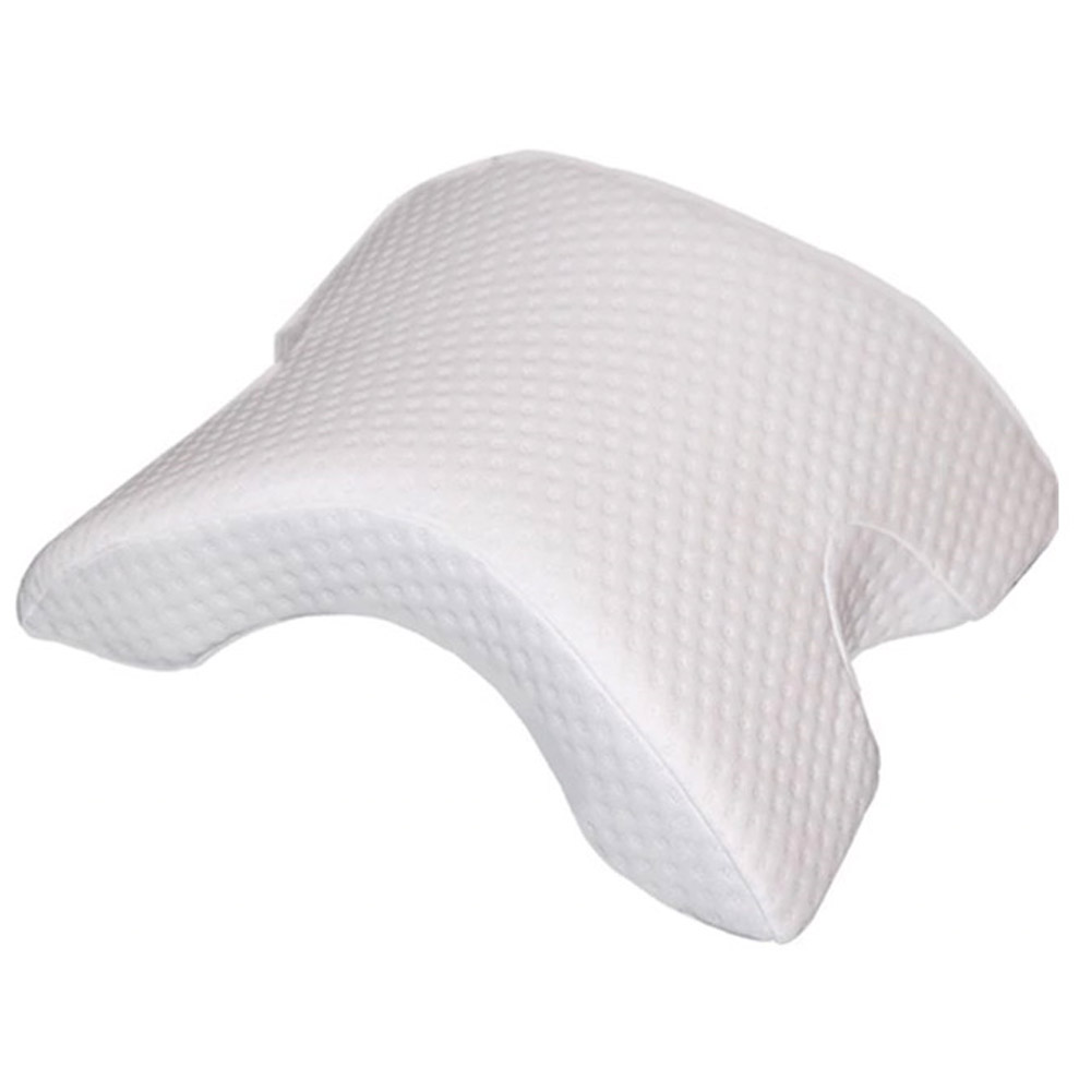 SleepLabs Arm Arch Contoured Memory Foam Pillow with Pillowcase