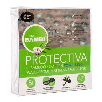 Bambi Protectiva Waterproof Towelling Bamboo Cotton Mattress Protector