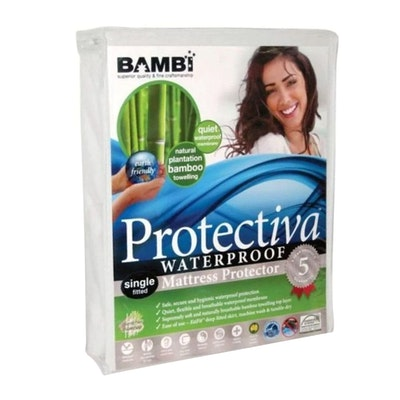 Bambi Protectiva Waterproof Bamboo Towelling Mattress Protector