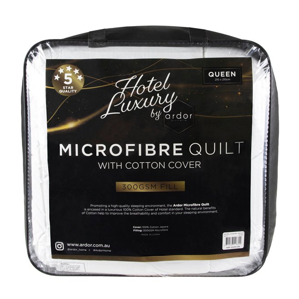 Ardor Home Hotel Luxury Microfibre Quilt 300gsm