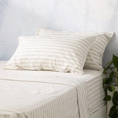 Renee Taylor Ticking Stripe 250 Thread Count Cotton Sheet Set