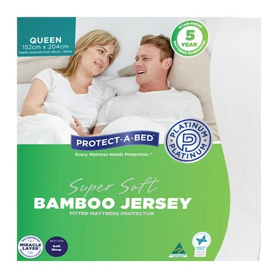 Protect-A-Bed Super Soft Bamboo Jersey Fitted Waterproof Mattress Protector Packaging
