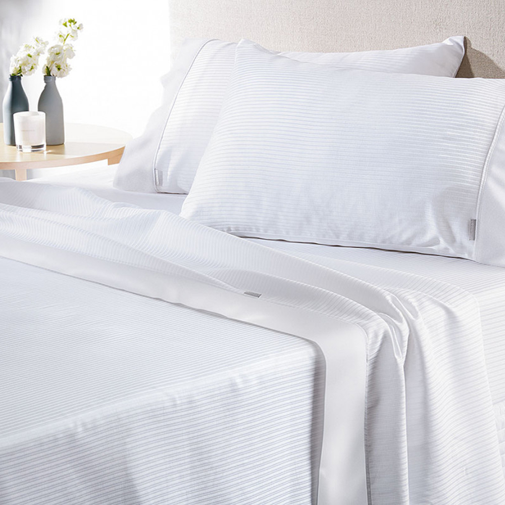 Sheridan Albrite 300 Thread Count White Cotton Sheet Set