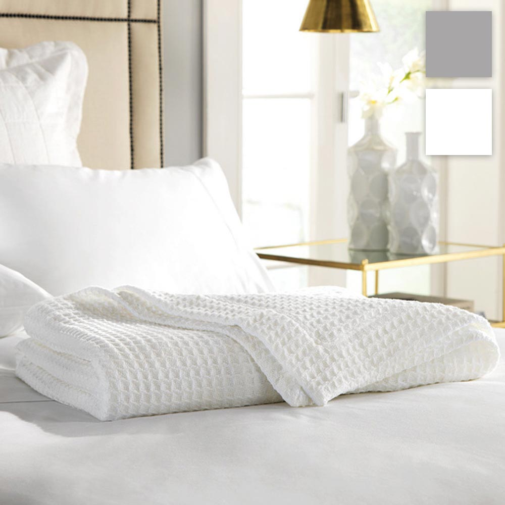Sheridan Cotton Waffle Blanket