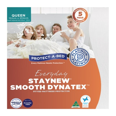 Protect-A-Bed Everyday Smooth Polyester Fitted Waterproof Mattress Protector Packaging