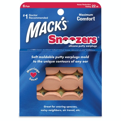 Mack's Moldable Snoozers Silicone Ear Plugs