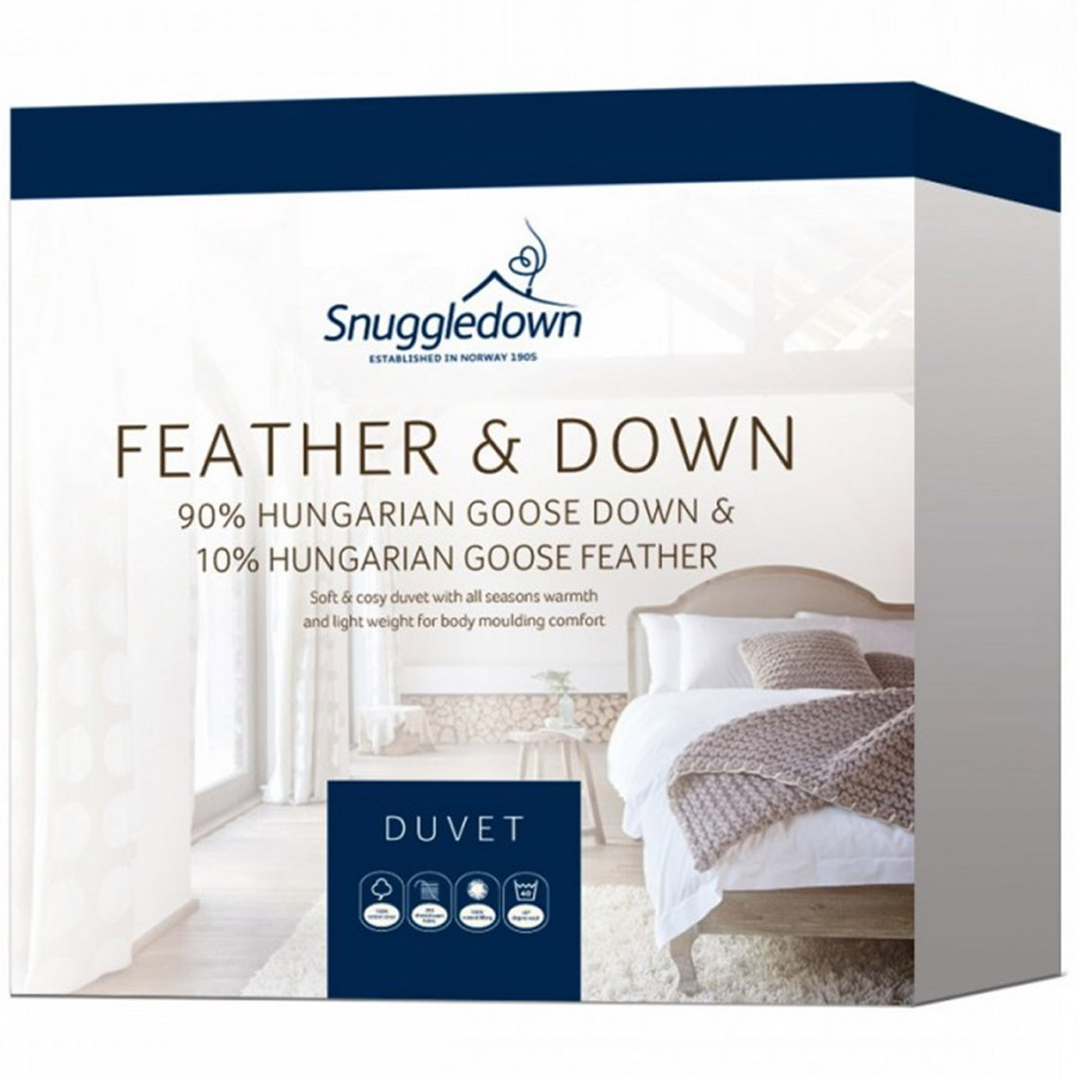 Snuggledown Hungarian White Goose Feather and Down Quilt