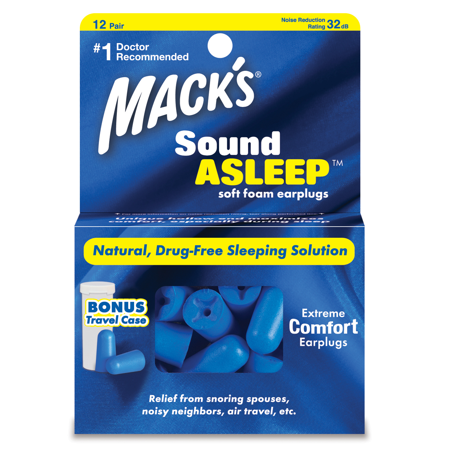 Mack's SoundAsleep Soft Foam Ear Plugs