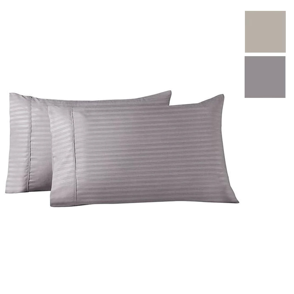 Striped Bamboo Blend Pillowcases - Twin Pack