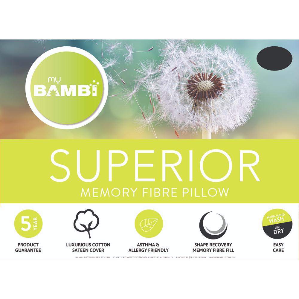 Bambi Superior Memory Fibre Pillow