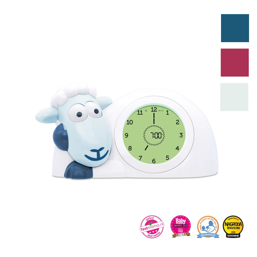ZAZU Sam the Lamb Sleeptrainer Clock With Nightlight